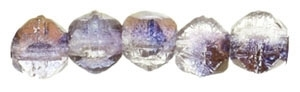 Czech English Cut Round 3mm : EC3-14215 - Luster - Light Copper Amethyst - 25 pieces