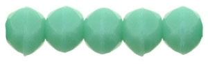 Czech English Cut Round 3mm : Turquoise - 25 pieces