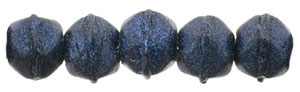 Czech English Cut Round 3mm : Metallic Suede - Dark Blue - 25 pieces