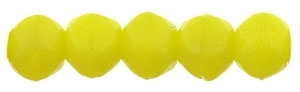 Czech English Cut Round 3mm : Chartreuse - 25 pieces