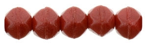 Czech English Cut Round 3mm : Opaque Red - 25 pieces