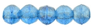 Czech English Cut Round 3mm : Luster Iris Capri Blue - 25 pieces