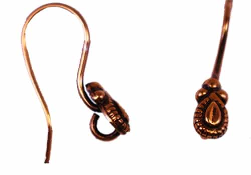 French Ear Copper Plated Wire 22mm - 1 pair
