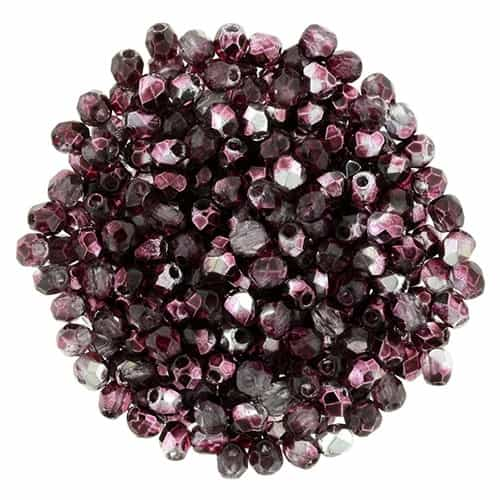 FP2-15226 - Firepolish 2mm : Mirror - Cranberry - 25 pieces