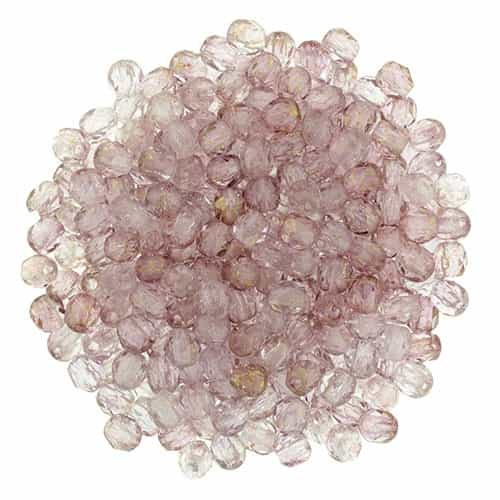 FP2-15495 - Firepolish 2mm : Luster - Transparent Topaz/Pink - 25 pieces