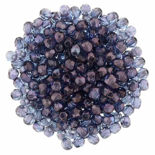 FP2-15726 - Firepolish 2mm : Luster - Transparent Amethyst - 25 pieces