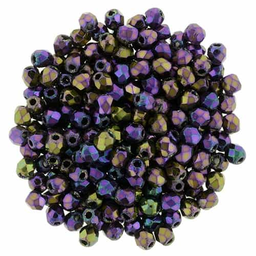 FP2-21495 - Firepolish 2mm : Iris - Purple - 25 pieces