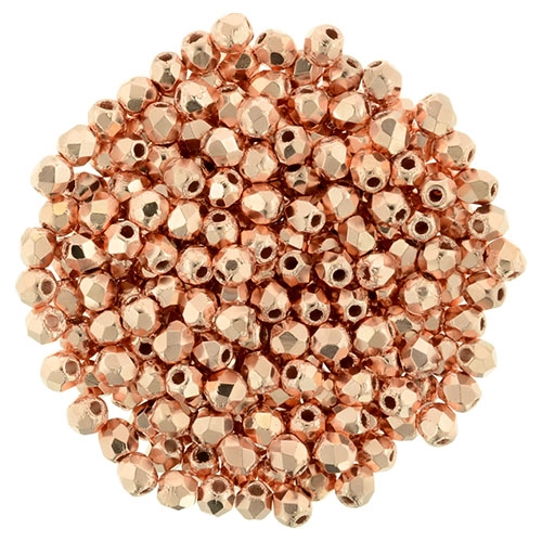 FP2-275 - Firepolish 2mm : Copper Penny - 25 pieces