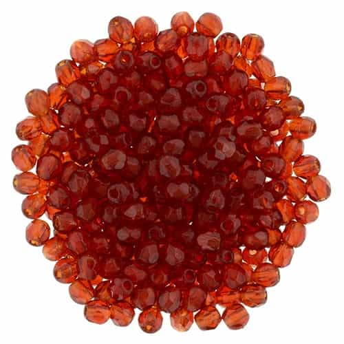 FP2-9008 - Firepolish 2mm : Siam Ruby - 25 pieces