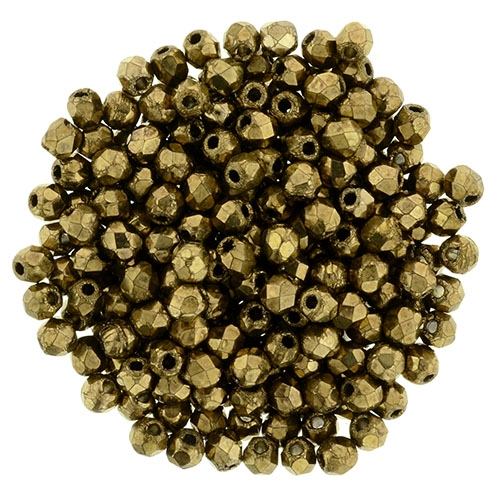 FP2-90215 - Firepolish 2mm : Bronze - 25 pieces