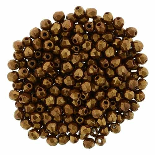 FP2-B93210 - Firepolish 2mm : Patina - Copper Bronze - 25 pieces