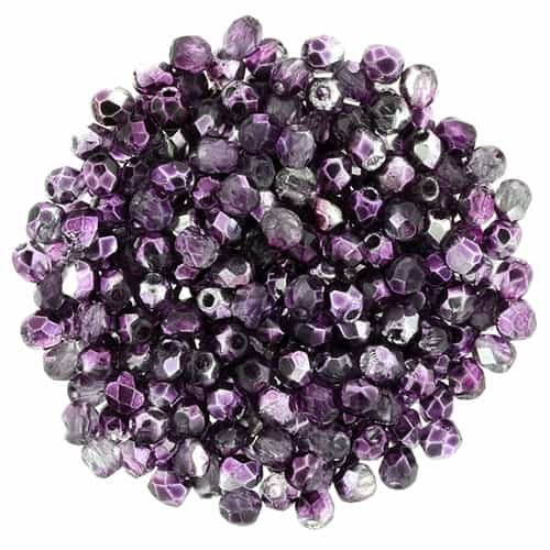 FP2-K5203 - Firepolish 2mm : Mirror - Orchid - 25 pieces