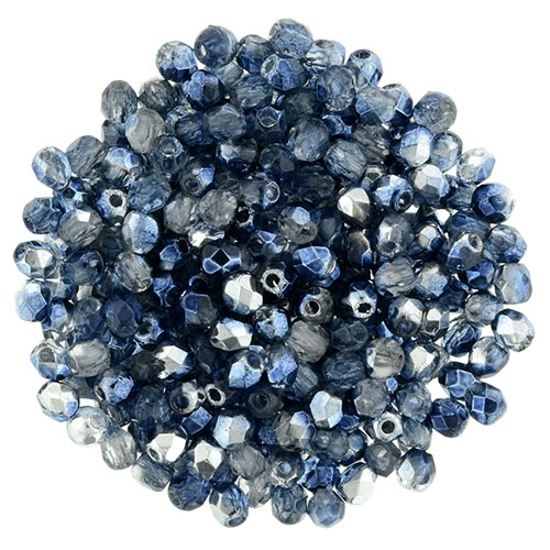 FP2-K5308 - Firepolish 2mm : Mirror - Denim - 25 pieces