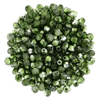 FP2-K5507 - Firepolish 2mm : Mirror - Fern Green - 25 pieces
