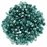 FP2-K5513 - Firepolish 2mm : Mirror - Teal - 25 pieces