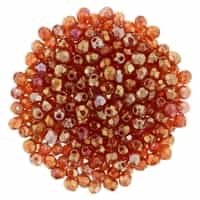 FP2-LR9008 - Firepolish 2mm : Luster Iris - Ruby - 25 pieces