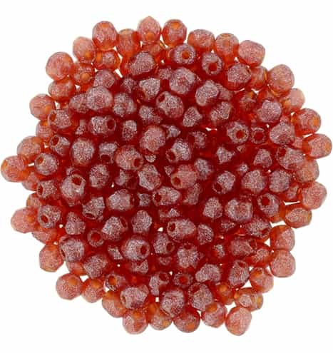 FP2-S9C9008 - Firepolish 2mm : Flash Pearl - Siam Ruby - 25 pieces