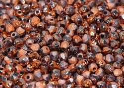 Firepolish 3mm : FP3-00030-27183 - Crystal Etched Sunset Full - 25 Count