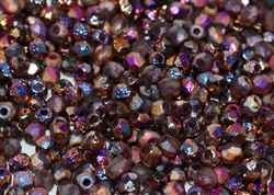 Firepolish 3mm : FP3-00030-29583 - Crystal Etched Sliperit Full - 25 Count