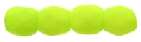 Firepolish 3mm : FP3-25142 - Neon Lime - 25 Count