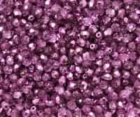 Firepolish 4mm: FP4-67275 - Crystal Purple Metallic Ice - 25 pieces