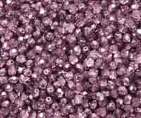Firepolish 4mm: FP4-67744 - Crystal Flamingo Metallic Ice - 25 pieces