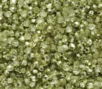Firepolish 4mm: FP4-00030-67813 - Crystal Lime Metallic Ice - 25 pieces