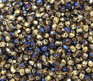 Firepolish 4mm: FP4-00030-98548 - California Blue - 25 pieces
