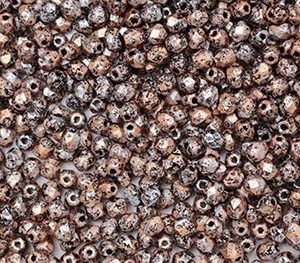 Firepolish 4mm: FP4-23980-49877 - Granite Galaxy Gold - 25 pieces