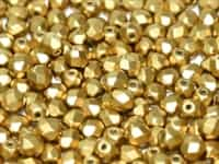 Firepolish 4mm : FP4-29418 - Alabaster Metallic Olivine - 25 Count
