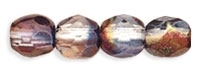 Firepolish 4mm : Luster - Amethyst/Blue/Crystal