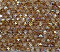 Firepolish 6mm: FP6-00030-98532 - Crystal Brown Rainbow - 25 Bead Strand