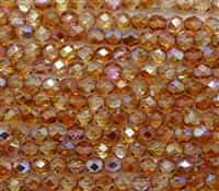 Firepolish 6mm: FP6-00030-98535 - Crystal Orange Rainbow - 25 Bead Strand