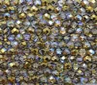 Firepolish 6mm: FP6-00030-98536 - Crystal Golden Rainbow - 25 Bead Strand