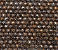 Firepolish 6mm: FP6-23980-45703 - Tweedy Copper - 25 Bead Strand