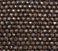 Firepolish 6mm: FP6-23980-45709 - Tweedy Light Copper - 25 Bead Strand