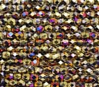 Firepolish 6mm: FP6-23980-98545 - Jet California Violet - 25 Bead Strand