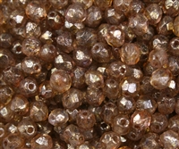 Firepolish 6mm : FP6-CTS0003 - Stone Copper Picasso - Crystal - 25 pieces