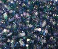 Firepolish 6mm : FP6-G3830 - Coated - Light Tanzanite/Teal - 25 pieces
