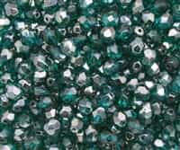 Firepolish 6mm : FP6-Z6023 - Viridian - Celsian - 25 pieces
