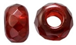Czech FirePolish Large Hole Rondelle 9/14mm: FPLHR-63977 - Color Trends - Pomegranate - 1 piece