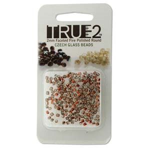 FPR0200030-27137-R - Fire Polish True 2mm Beads -  Crystal Sunset - Approx 2 Grams - 200 Beads Factory Pack