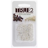 FPR0200030-78109-R - Fire Polish True 2mm Beads -  Crystal AB Silver Lined - Approx 2 Grams - 200 Beads Factory Pack