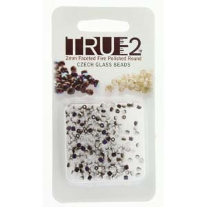 FPR0203000-22271-R - Fire Polish True 2mm Beads -  Chalk White Azuro Matte - Approx 2 Grams - 200 Beads Factory Pack