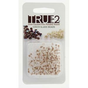 FPR0203000-22571-R - Fire Polish True 2mm Beads -  Chalk White Celsian Matte - Approx 2 Grams - 200 Beads Factory Pack