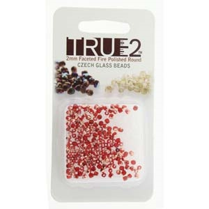 FPR0290080-27101-R - Fire Polish True 2mm Beads -  Siam Capri Gold - Approx 2 Grams - 200 Beads Factory Pack
