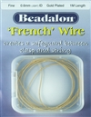 'French' Wire Gold Plated 1 Meter Fine
