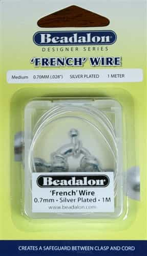 'French' Wire Silver Plated 1 Meter Medium