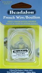 'French' Wire Silver Plated 1 Meter X-Heavy