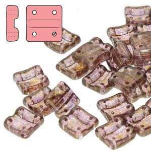 FXRV8700030-15695 - Fixer Beads with Vertical Holes - Crystal Senegal Brown-Purple - 10 Count